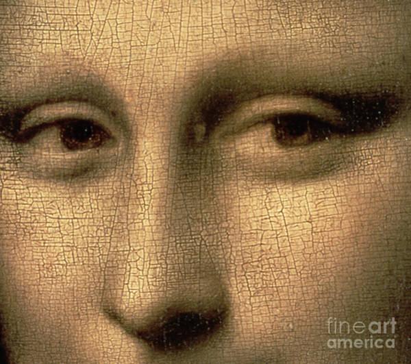 Mona Lisa Wall Art - Painting - Mona Lisa    Detail by Leonardo Da Vinci