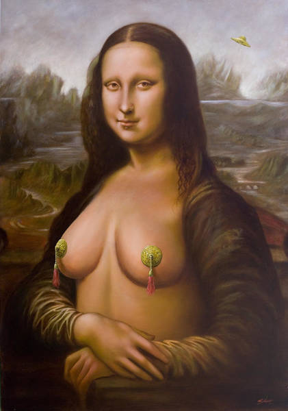 Painting - Mona Lisa II by John Silver