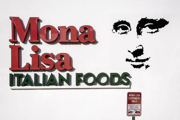 Digital Art - Mona Lisa Italian Foods by Photographic Art by Russel Ray Photos