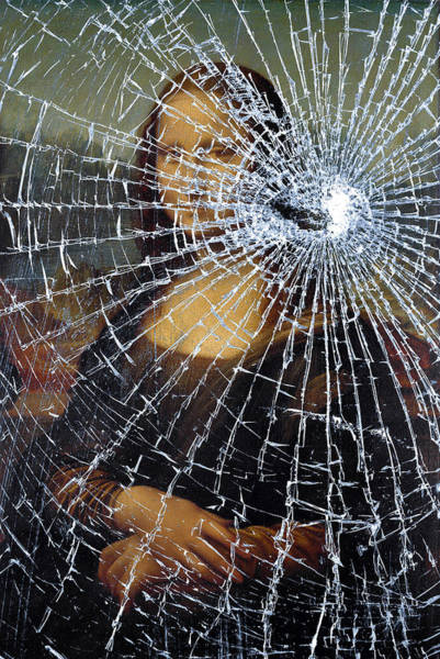 Photograph - Mona Lisa Shattered by Brian Carson
