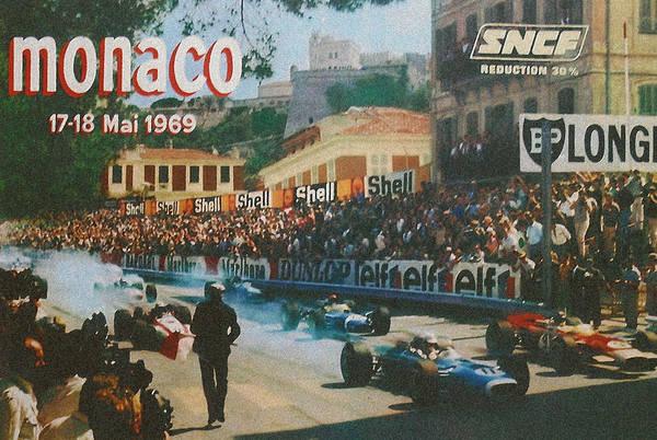 Formula 1 Digital Art - Monaco 1969 by Georgia Fowler