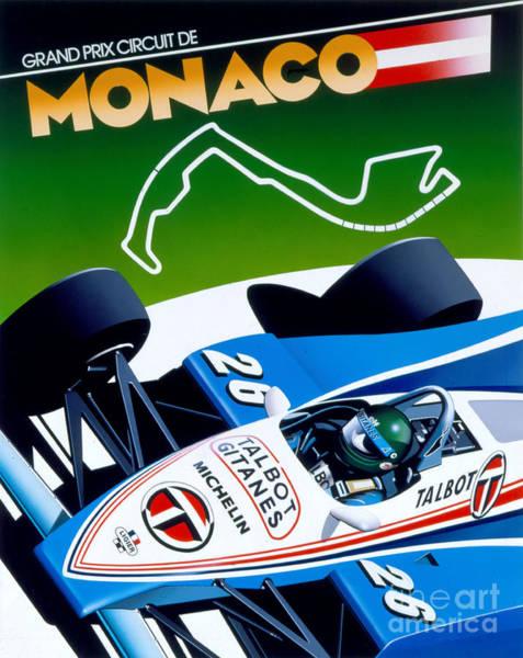 Formula 1 Digital Art - Monaco by MGL Meiklejohn Graphics Licensing
