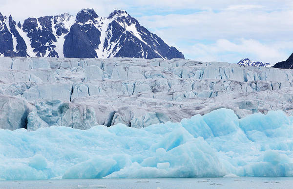 Monaco Photograph - Monaco Glacial Ice In Spitsbergen by Anna Henly