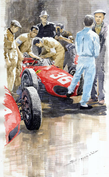 Wall Art - Painting - Monaco Gp 1961 Ferrari 156 Sharknose Richie Ginther by Yuriy Shevchuk