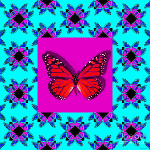Photograph - Monarch Butterfly Abstract Window 20130203m180 by Wingsdomain Art and Photography