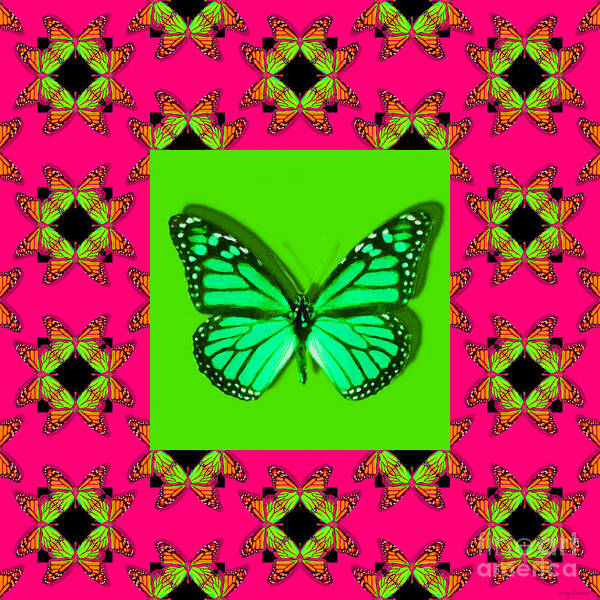 Photograph - Monarch Butterfly Abstract Window 20130203m28 by Wingsdomain Art and Photography