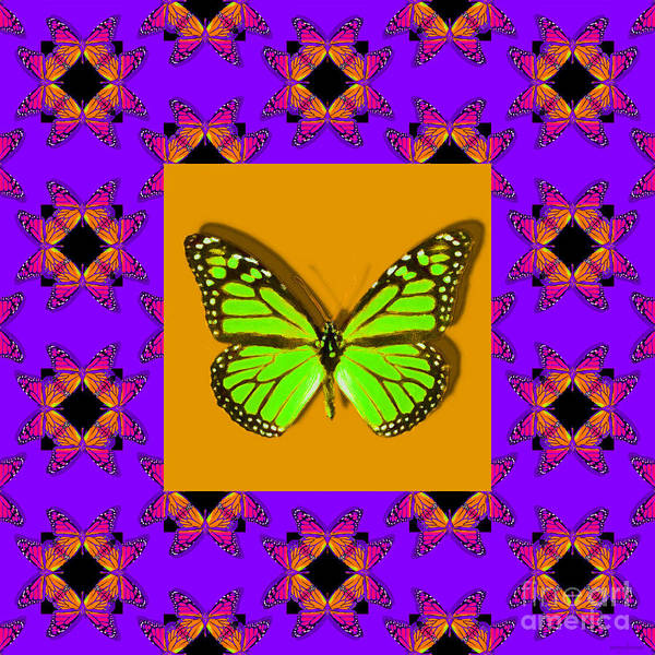 Photograph - Monarch Butterfly Abstract Window 20130203m88 by Wingsdomain Art and Photography