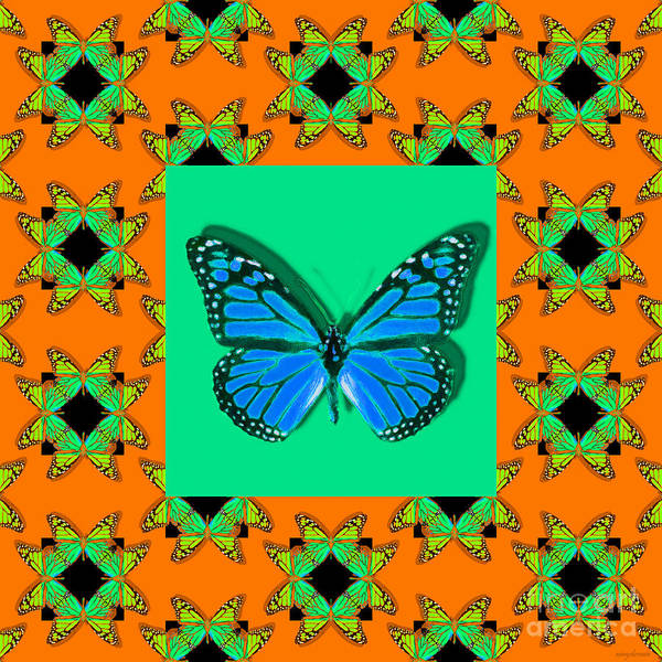 Photograph - Monarch Butterfly Abstract Window 20130203p28 by Wingsdomain Art and Photography