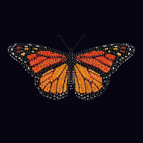 Digital Art - Monarch Butterfly Bedazzled by R  Allen Swezey