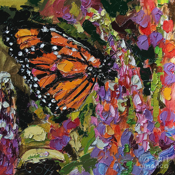 Painting - Monarch Butterfly On Lupines by Ginette Callaway