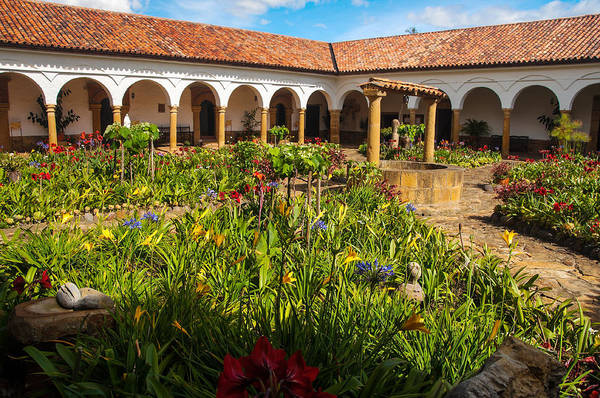 Boyaca Photograph - Monastery Courtyard by Jess Kraft