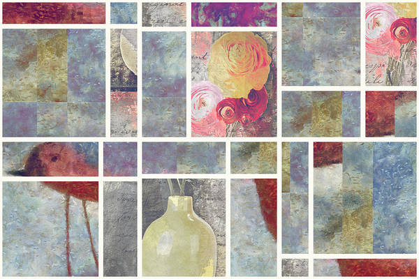 Fleur Digital Art - Mondrianity - 08a by Variance Collections