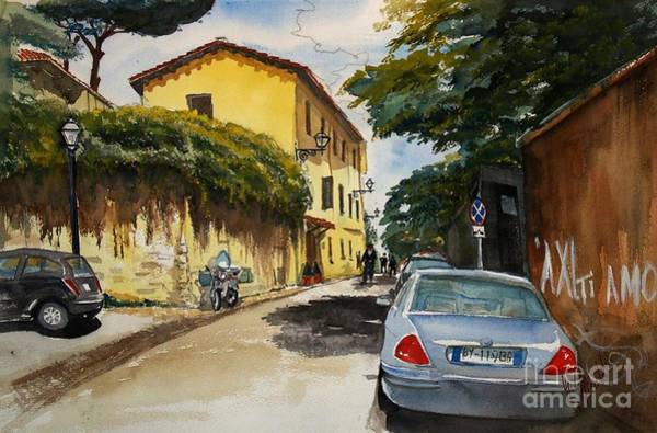 Painting - Monestero Foresteria Rome by Gerald Miraldi