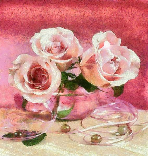 Digital Art - Monet Floral Marble by Catherine Lott