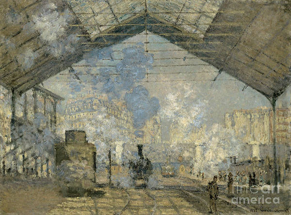 Painting - Monet Gare St Lazare 1877 by Granger