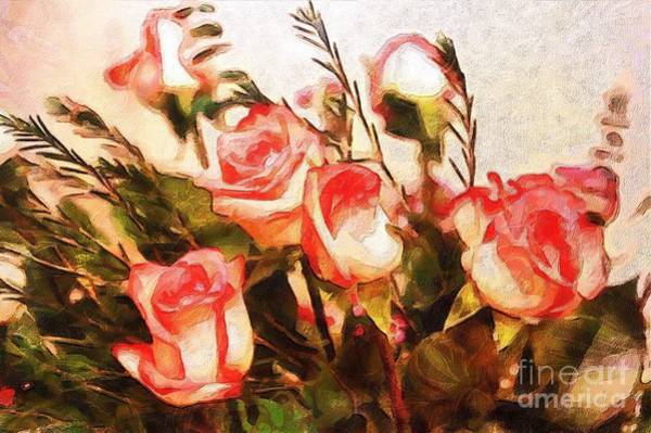 Painting - Monet Silked Roses by Catherine Lott