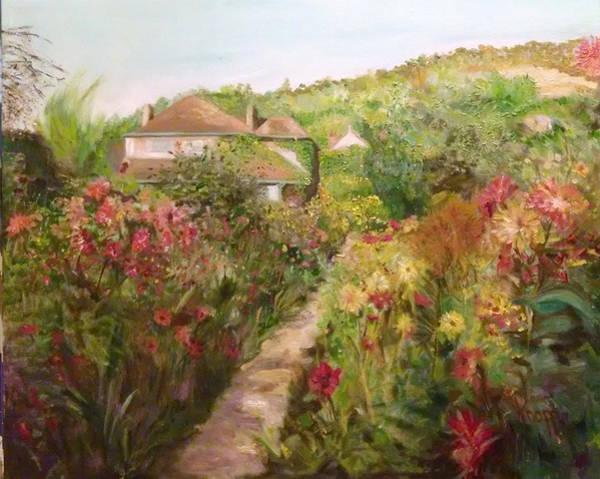 Monets Garden Fall Medley Art Print