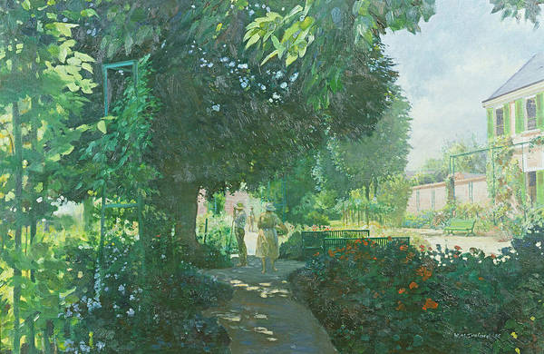 Giverny Photograph - Monets Garden Oil On Board by William Ireland