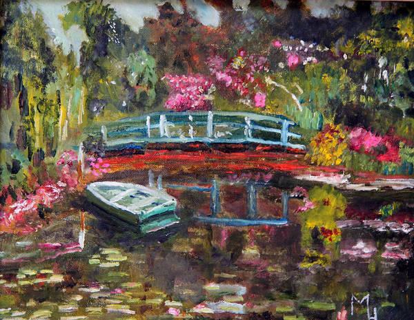 Painting - Monet's Green Boat In His Garden by Michael Helfen