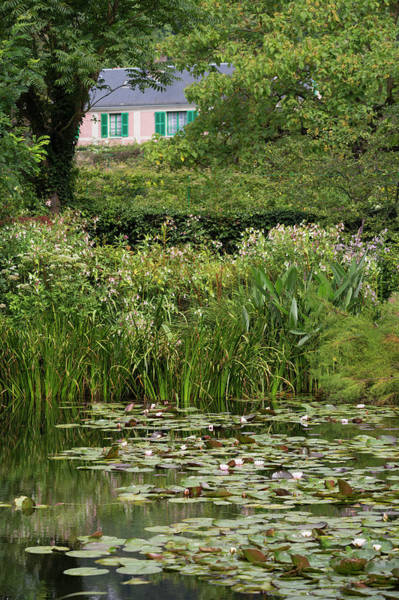 Giverny Photograph - Monets Water Lily Gardens by Martin Child