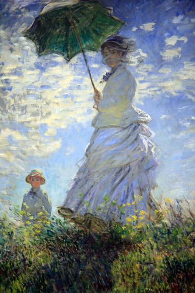 Claude Monet Photograph - Monet's Woman With A Parasol -- Madame Monet And Her Son by Cora Wandel