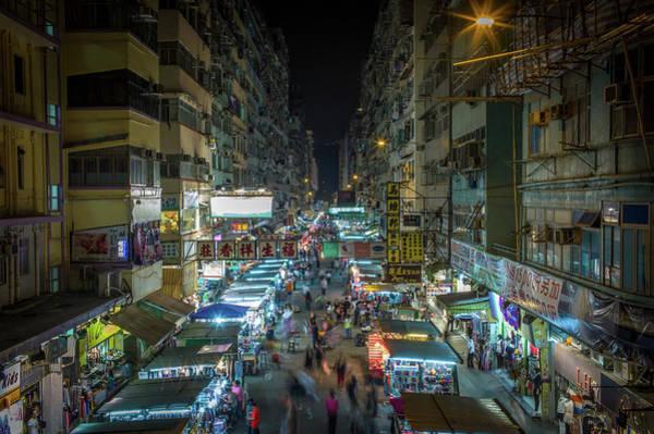 Chinese Language Photograph - Mong Kok At Night by Photo By Jake Ji