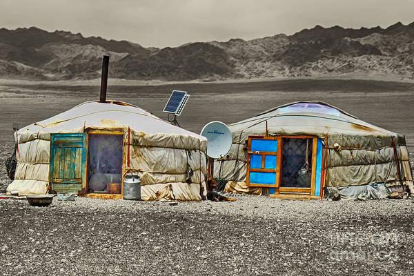 Photograph - Mongolian Yurts by Karla Weber