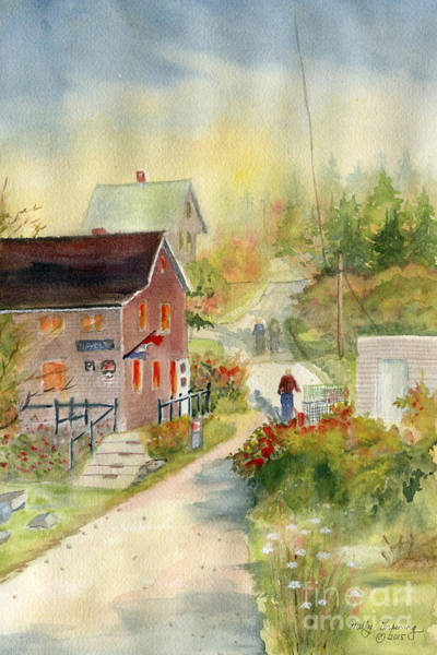 Novelties Painting - Monhegan In Autumn by Melly Terpening