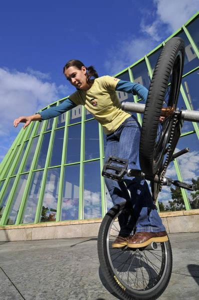 Photograph - Monika Hinz Riding Bmx Flatland by Matthias Hauser