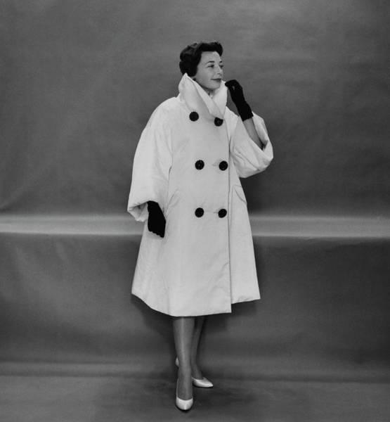 Photograph - Monique De Nervo In A Coat By Lanvin Castillo by Karen Radkai