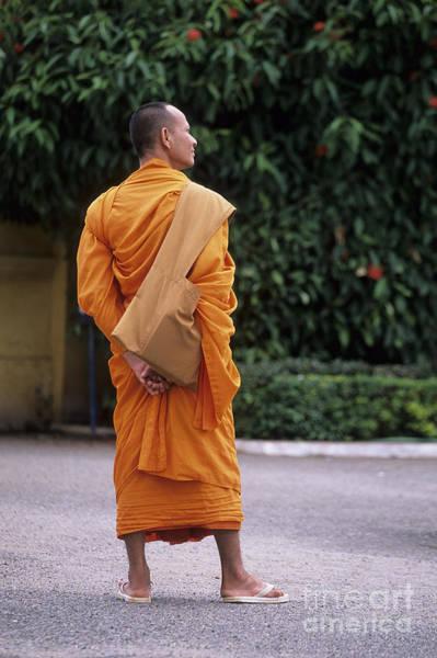 Phnom Penh Wall Art - Photograph - Monk Phnom Penh Cambodia by Ryan Fox