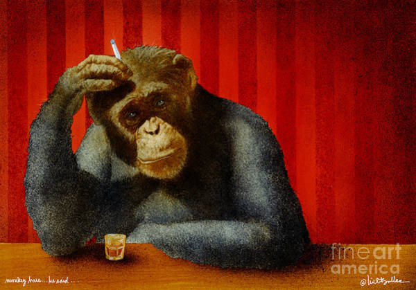 Monkey Bars...he Said... Art Print by Will Bullas