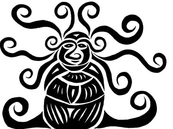 Glass Art - Monkey Beetle by Beth Akerman