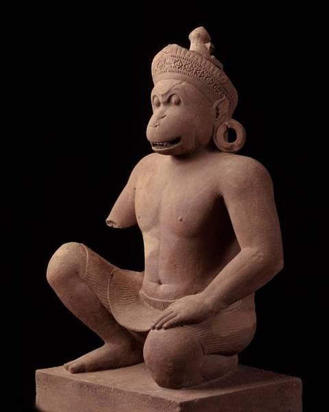 Phnom Penh Wall Art - Sculpture - Monkey Guardian Figurebantaey Srei, 967 Adnational Museum, Phnom Penh by Cambodian School