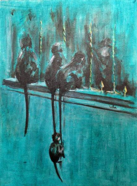 Usha Painting - Monkey Swing by Usha Shantharam