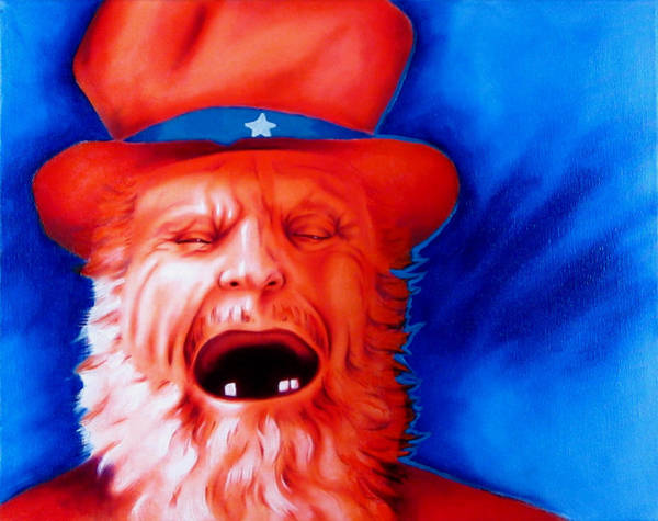 Uncle Sam Painting - Monkey's Uncle by Robert Martinez