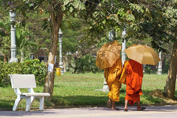 Cambodian Photograph - Monks, Battambang, Cambodia by Dori Moreno