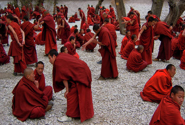 Buddhism Photograph - Monks Debating by Yvette Depaepe
