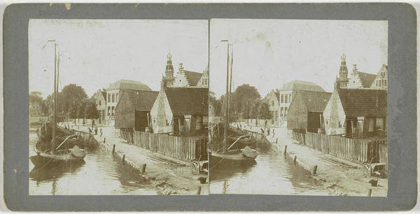 1880 Drawing - Monnikendam, The Netherlands, Anonymous by Artokoloro