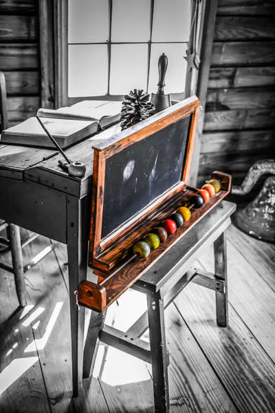 Pioneer School Photograph - Mono Desk by Chris Smith