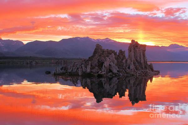 Photograph - Mono Lake Fiery Sunset by Adam Jewell
