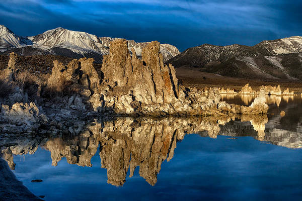 Tioga Photograph - Mono Lake In March by Kathleen Bishop