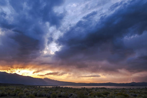 Photograph - Mono Lake Lightning by Cat Connor