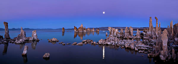 Rock Formation Photograph - Mono Lake Moon Rise by Hua Zhu