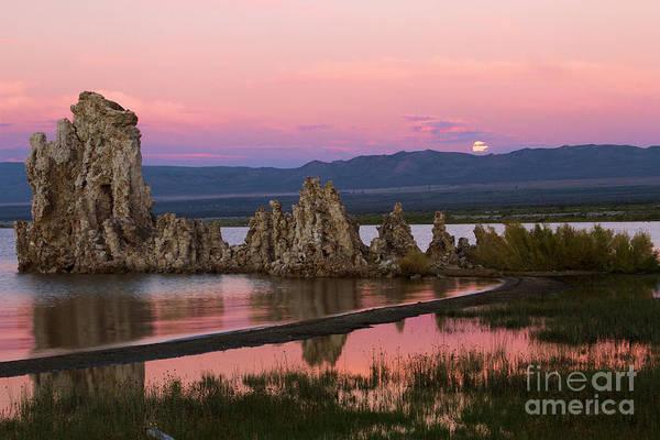 Photograph - Mono Lake Moonrise by Adam Jewell