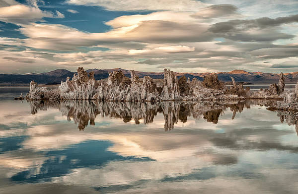 Salt Water Photograph - Mono Lake Reflections by Cat Connor
