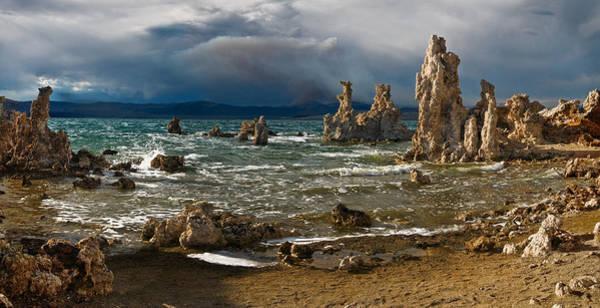 Photograph - Mono Lake Stormy Panorama by Dave Dilli
