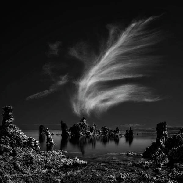 Monochrome Photograph - Mono Lake's Tufa Cathedral by Yvette Depaepe