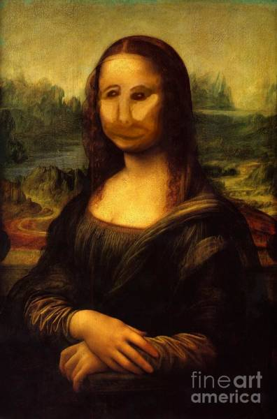 Digital Art - Mono Lisa by Pet Serrano