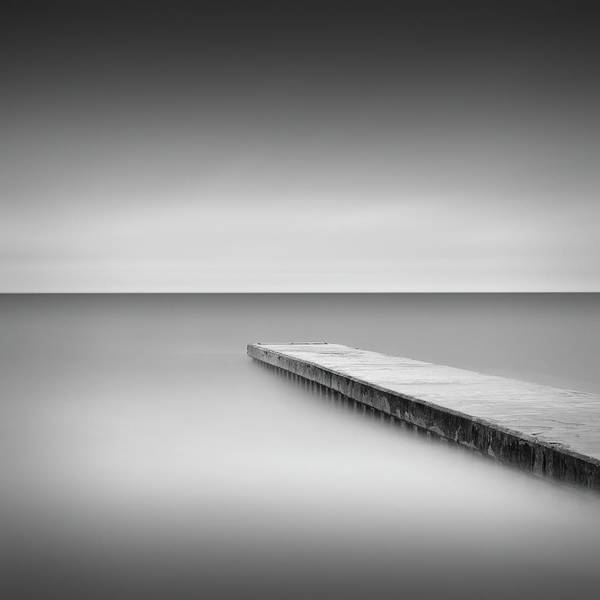 Wall Art - Photograph - Monochrome Long Exposure Jetty, Blyth Uk by Paul Simon Wheeler Photography